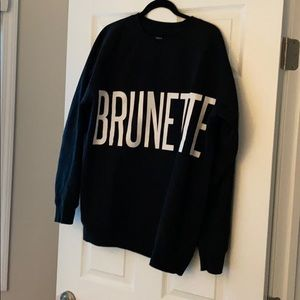 BRUNETTE The Label Crew Neck Sweater